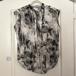 RVCA zipper front blouse